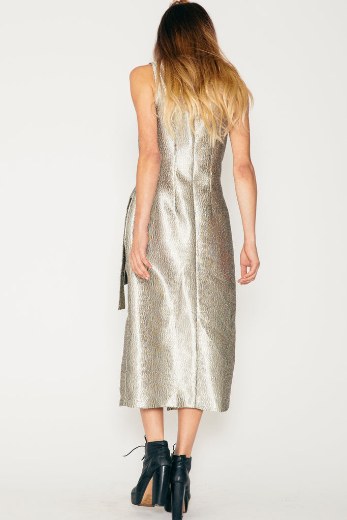 Champagne Wrap Dress