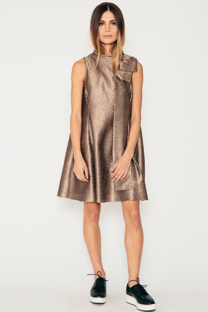 Gold Origami Dress