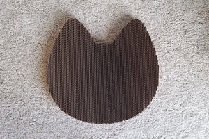 Americat cat shaped cat scratching pad