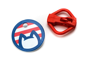 Americat cat ID tag and holder