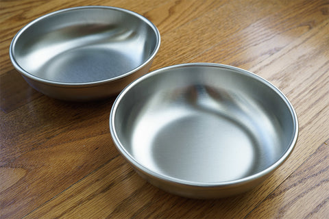 Set of 2 Americat made in USA stainless steel cat bowls