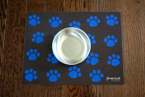 Paw print mat for bowl