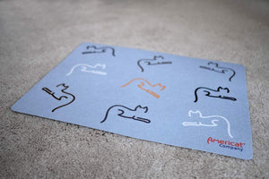 Cat placemat for food and water bowls