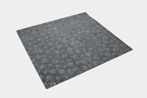 Paw Print cat litter box mat