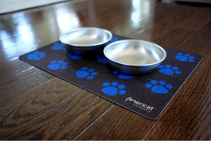 Cat mat for food and water bowls