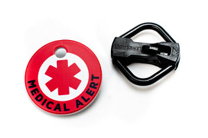 Americat medical alert cat ID tag and holder