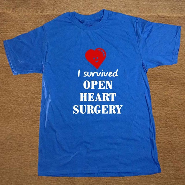 New Summer Style I SURVIVED OPEN HEART SURGERY Doctor Disease Funny BIRTHDAY T Shirt