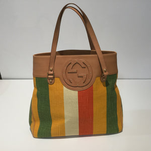 Gucci Stripe Canvas Bag