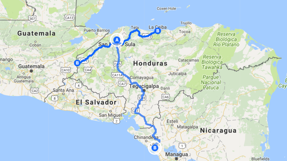 San Pedro Sula Honduras International Domestic Shuttles Roam