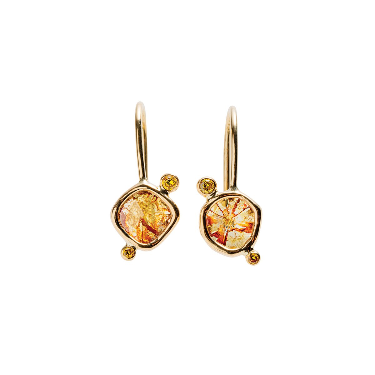 Meredith Young Jewelry Birds of Paradise Diamond Earrings