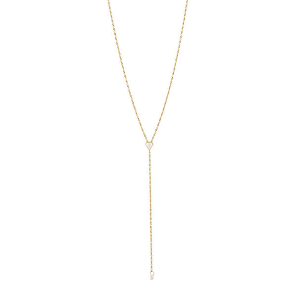 Meredith Young Jewelry Shield Lariat with Briolette