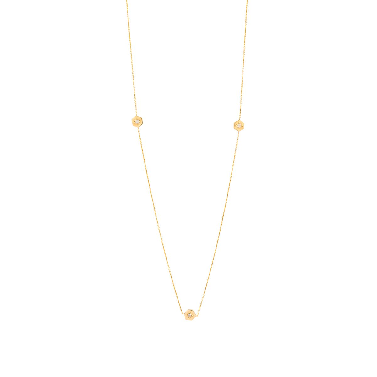 Meredith Young Jewelry Mini Webb Diamond Necklace