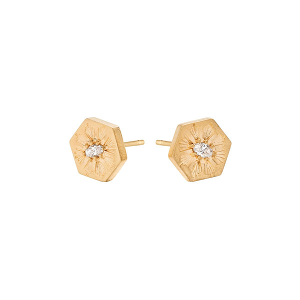 Meredith Young Jewelry Evil Eye Diamond Post Earrings