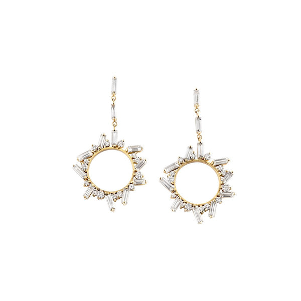Meredith Young Jewelry Controlled Chaos Open Circle Earrings