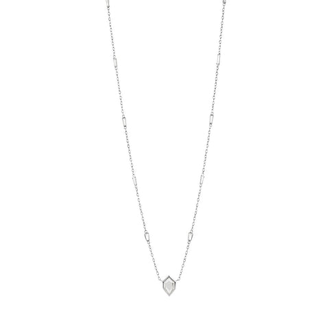 Meredith Young Jewelry Hexagon Diamond Necklace with Baguettes