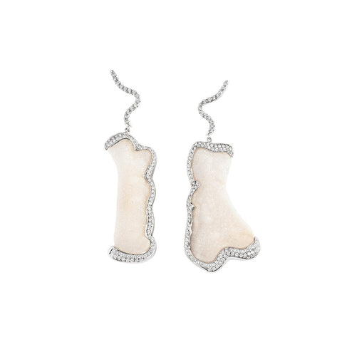 Meredith Young Jewelry Coral Diamond Trails Earrings
