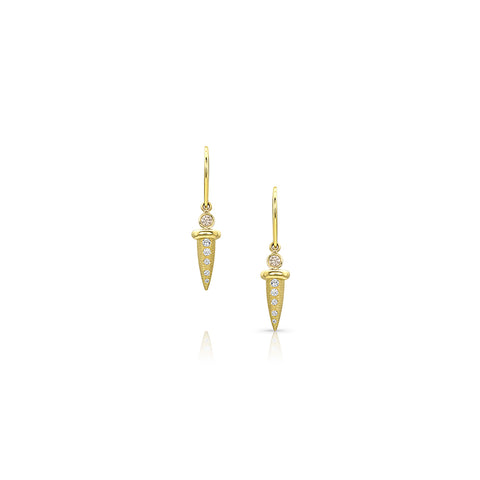 Bezel Diamond Nail Earrings