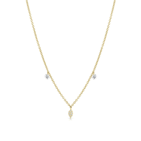 Floating Diamond Charm Necklace