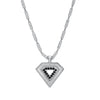 Men's Black Diamond Shield Pendant