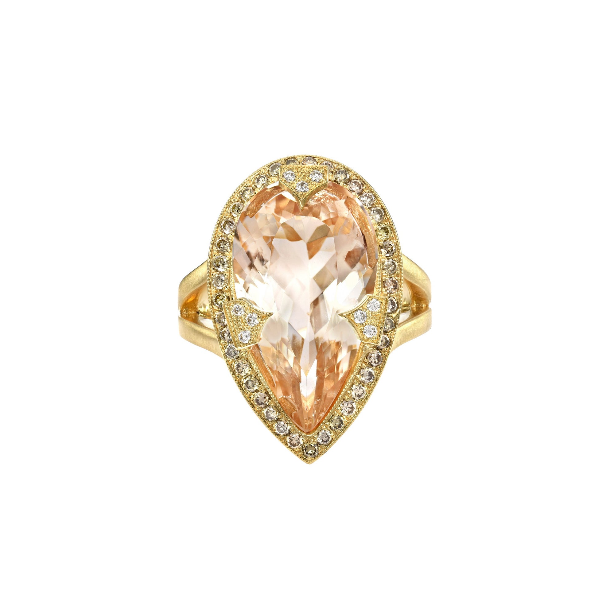 Imperial Topaz Shield Ring
