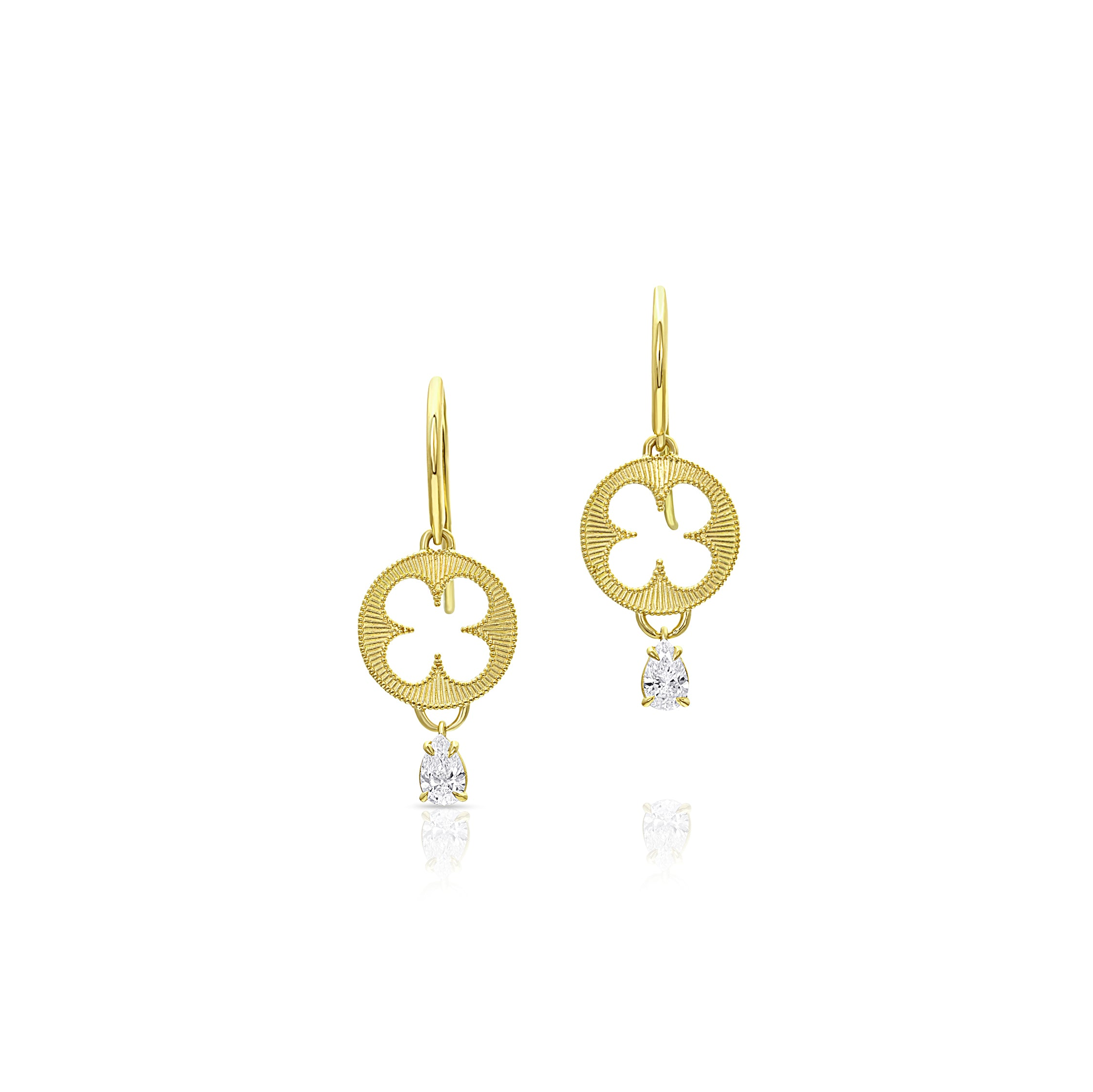 Roman Shield Diamond Earrings
