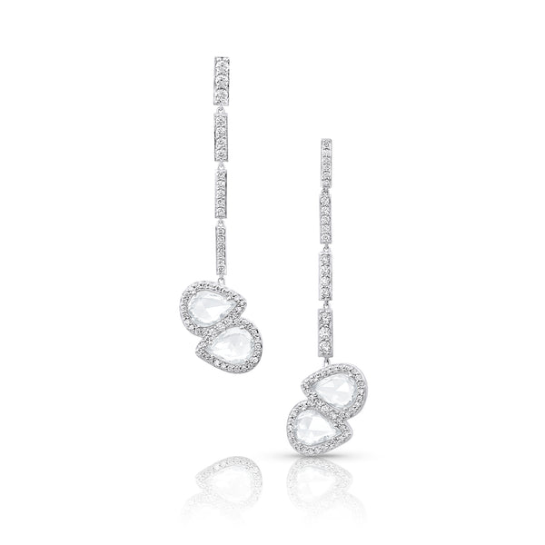 Yin Yang Sapphire Diamond Earrings
