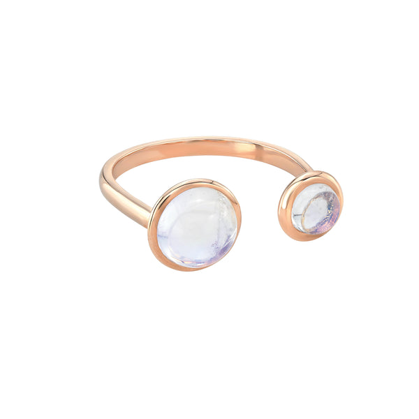 Moonstone Split Ring