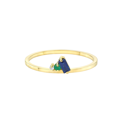 Petite Ring in Colored Stones