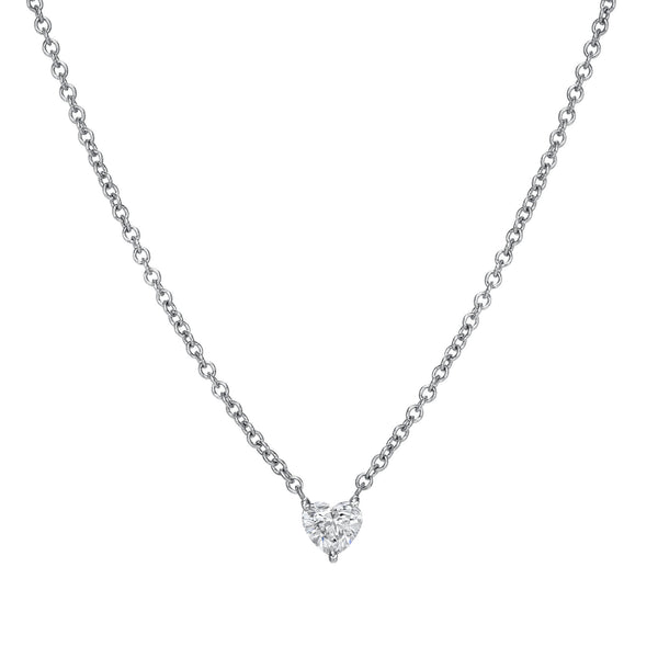 Quarter of a Carat Heart Diamond Necklace