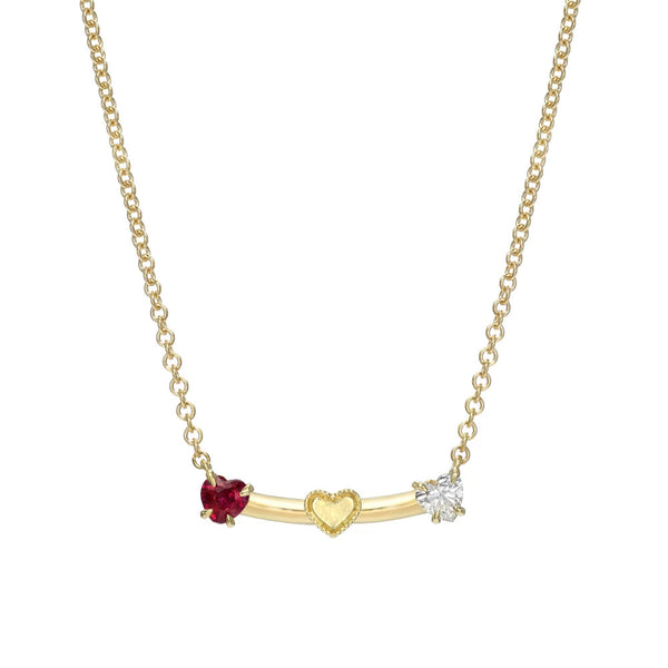 Smile Diamond Heart Necklace