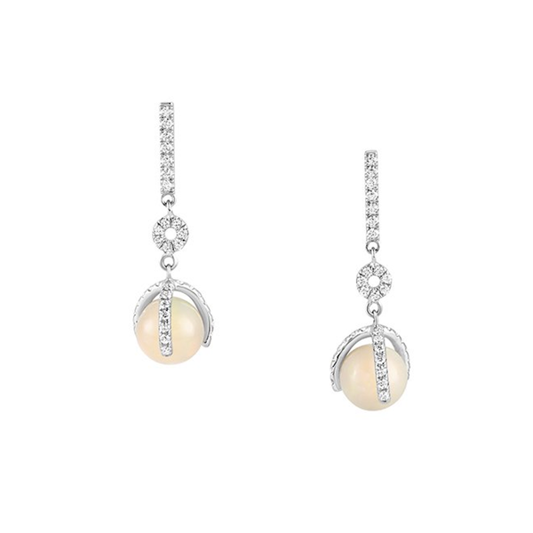 Atlas Petite Pave Earrings