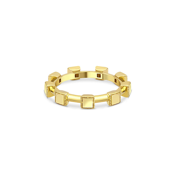 Engravable Square Eternity Band