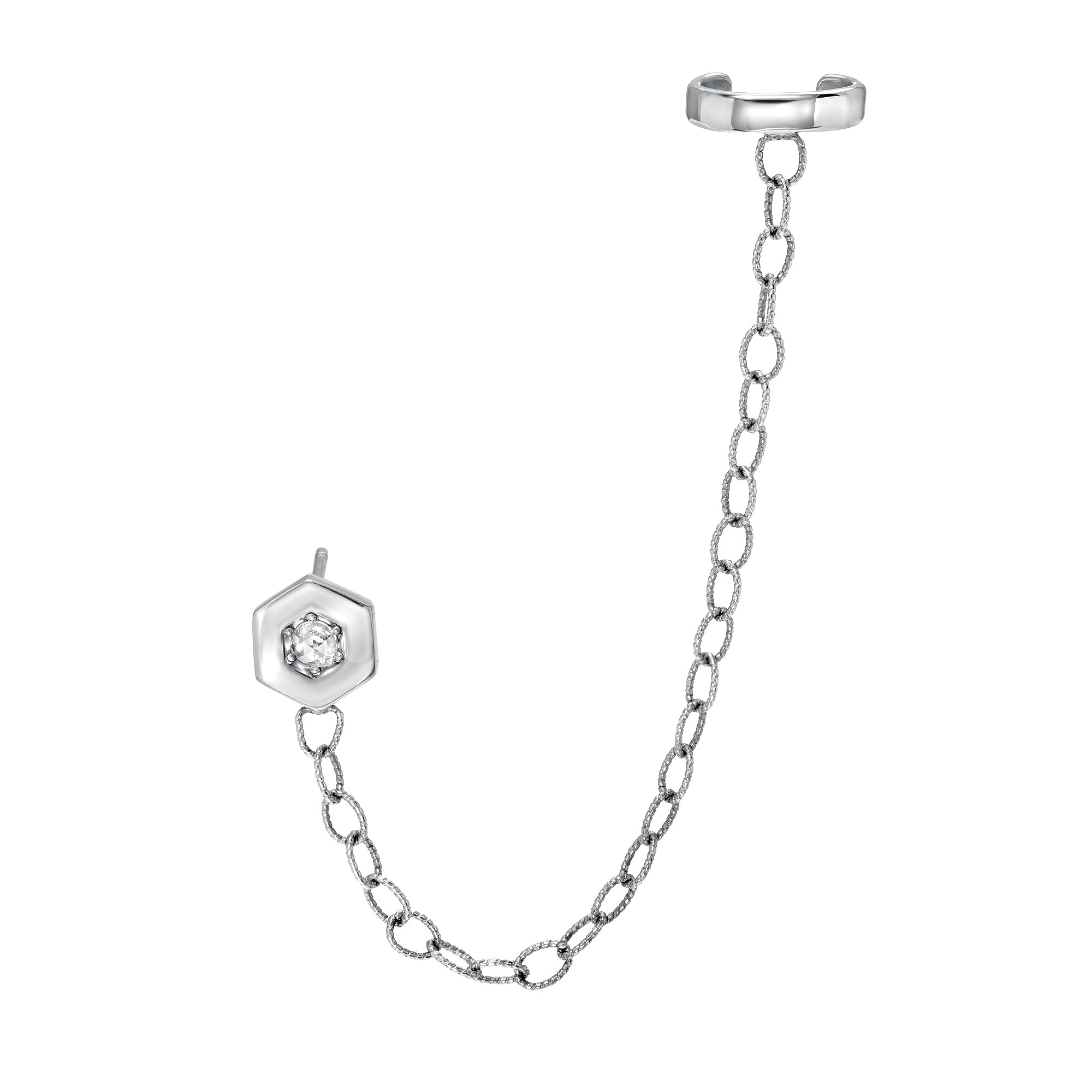 Hexagon Chain Cuff