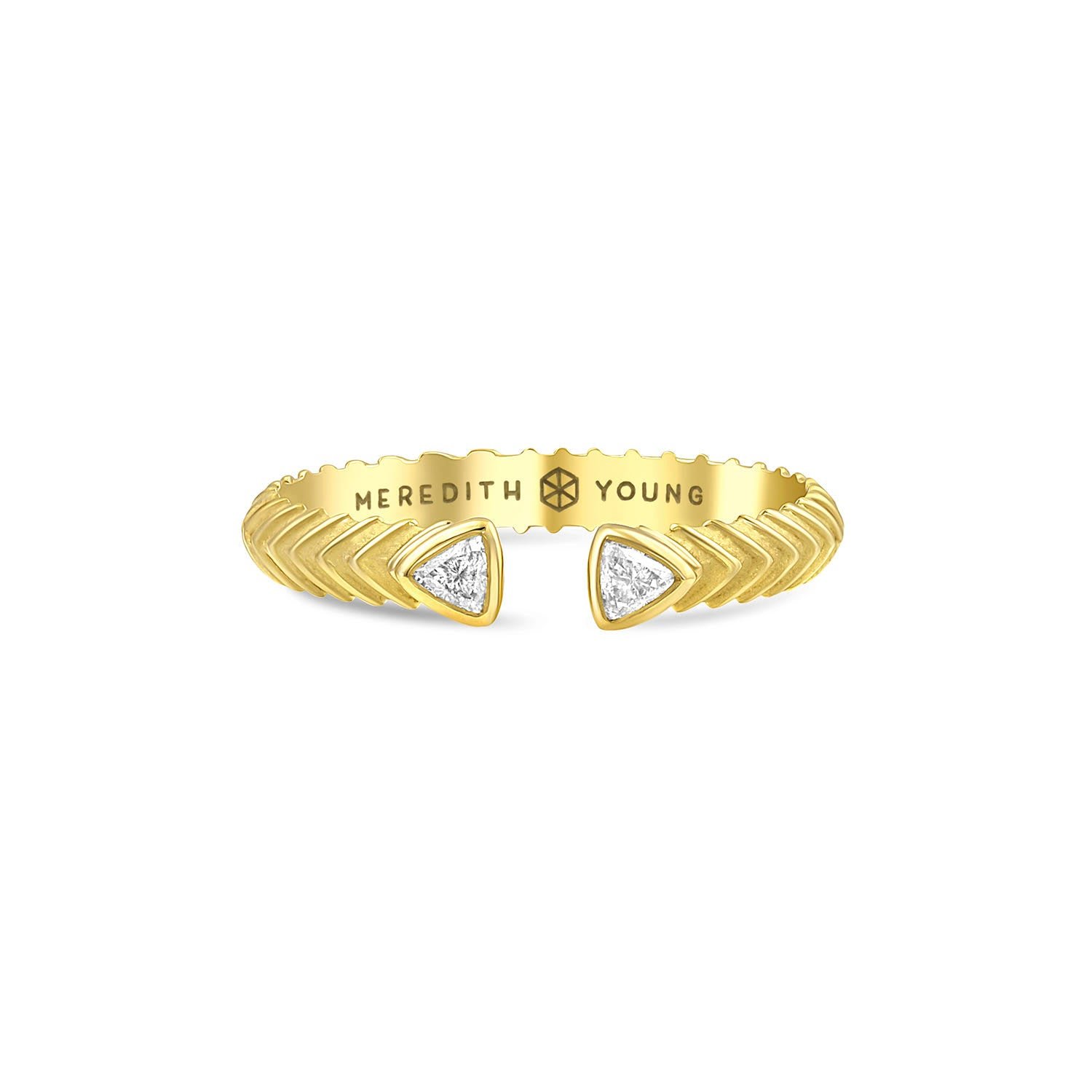 Petite Trillion Split Ring