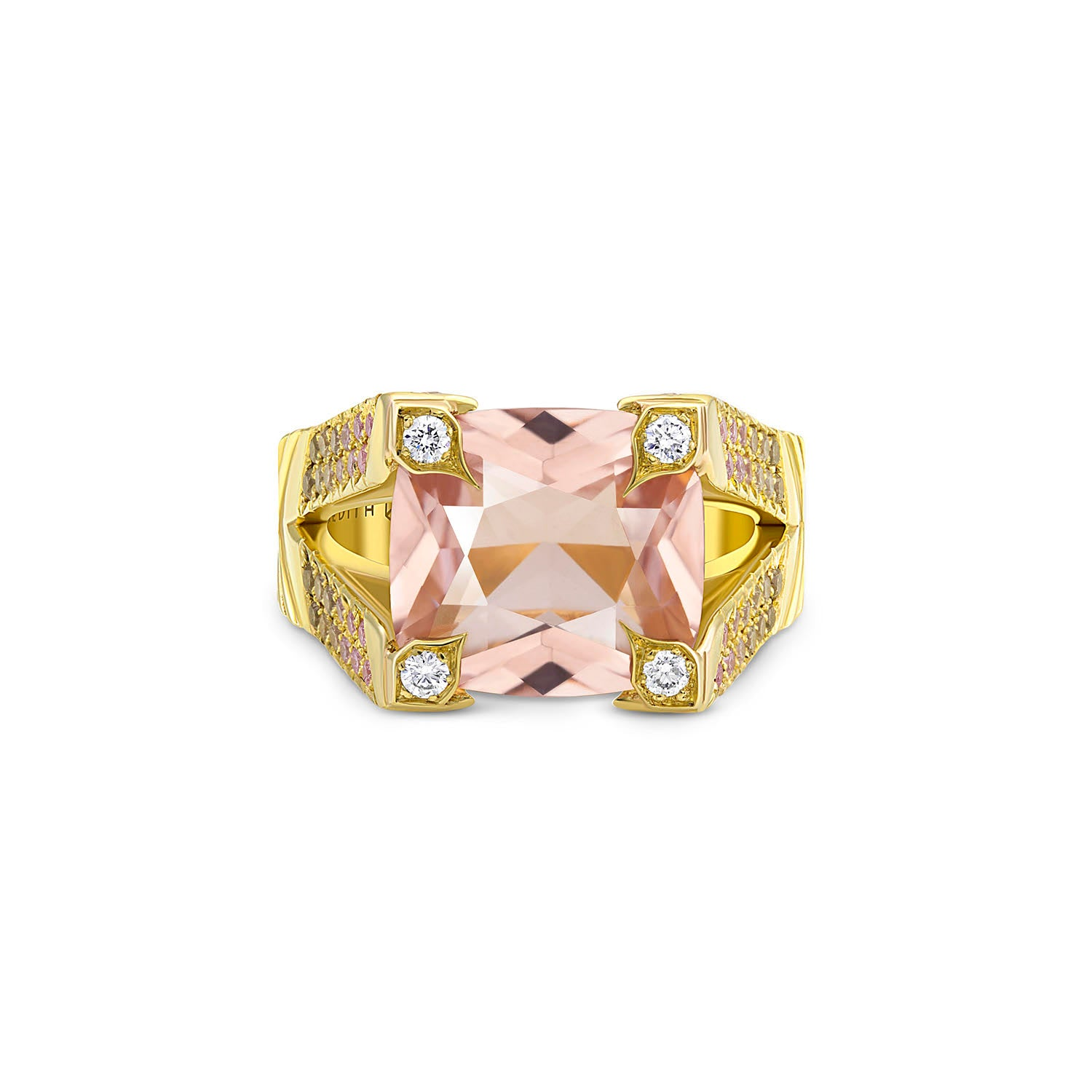 Ombre Pink Diamond Morganite Ring