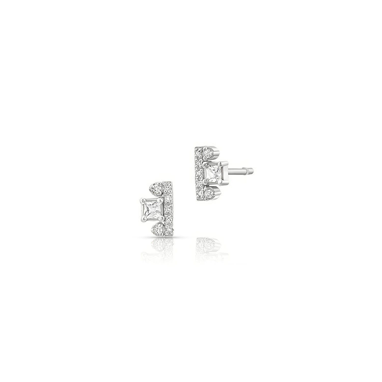 Topaz Diamond Post Earrings
