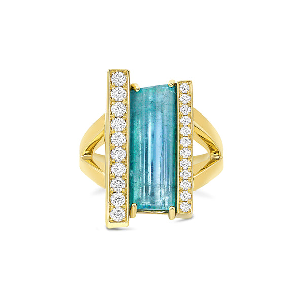 Tourmaline Bar Ring