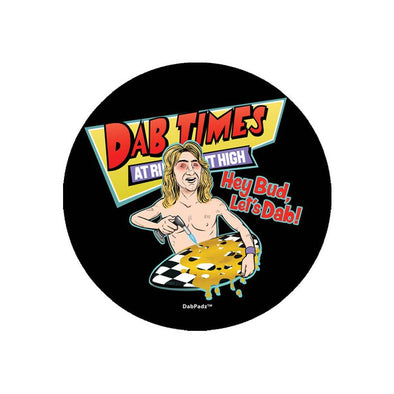 "DabPadz 5"" Round Fabric Top 1/4"" Thick - Dab Times"