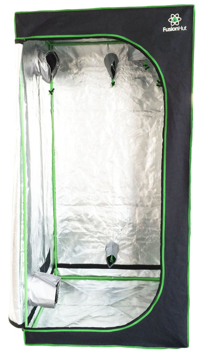 3' x 3' x 5' Fusion Hut 600D Low Profile Mylar Grow Tent