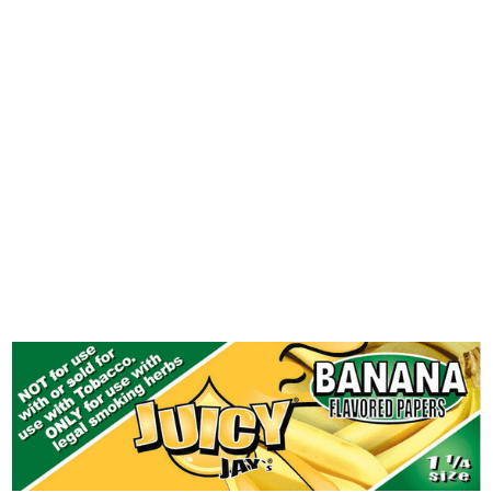Juicy Jay's 1 1/4 Banana Flavored Papers – 24 Pack Box
