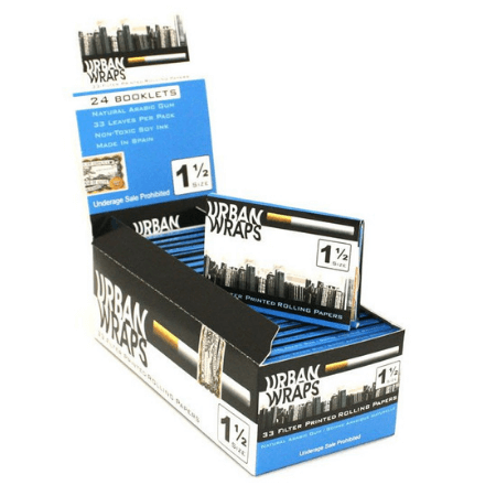 Urban Wraps 1 1/2 Rolling Papers – 24 Booklets Pack