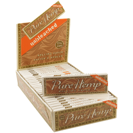 Pure Hemp Unbleached 1 1/4 Rolling Papers – 25 Booklets