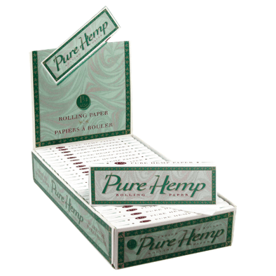 Pure Hemp Classic 1 1/4 Rolling Papers – 25 Booklets