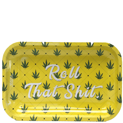 Roll That Shit Metal Rolling Tray (10.8″ x 6.8″)