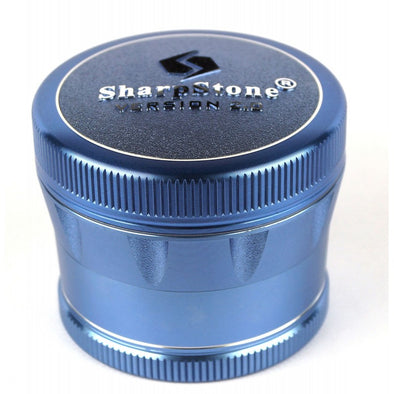 "SharpStone 4-Piece Version 2.0 Grinder Pollinator Colored 2.5"" - Blue"