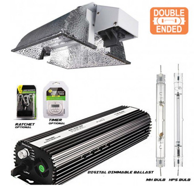 1000 Watt Double Ended (DE) Compact Reflector Kit