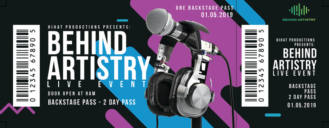 Behind Artistry Live Event - Backstage Pass
