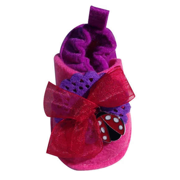 Pre Walker Soft Crib Baby Shoes for Infants, Newborns | CooShoe Collection | LadyBug in Red