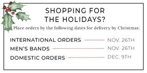 Holiday Ordering Deadlines
