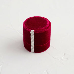 Antique Velvet Ring Box in Raspberry